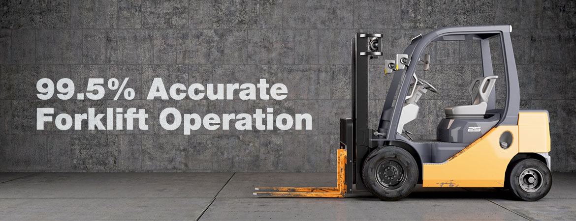 More accurate fork lift operation