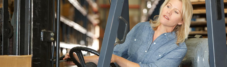 Female Forklift Operator